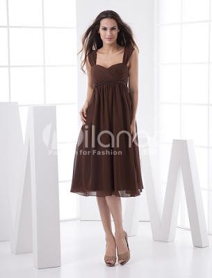 Fabuleux Taille Empire sweetheart thé longueur mousseline plissée robe de bal