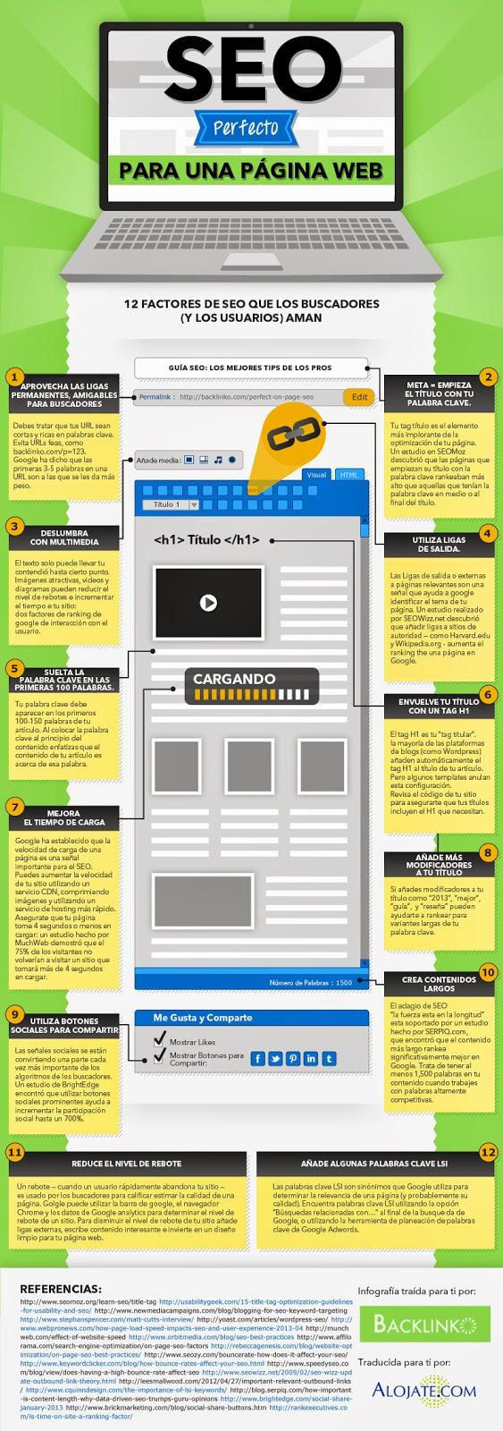 Infografía SEO Perfecto para una Página Web.