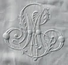 Monogram € 15,00 incl. materiaal.
