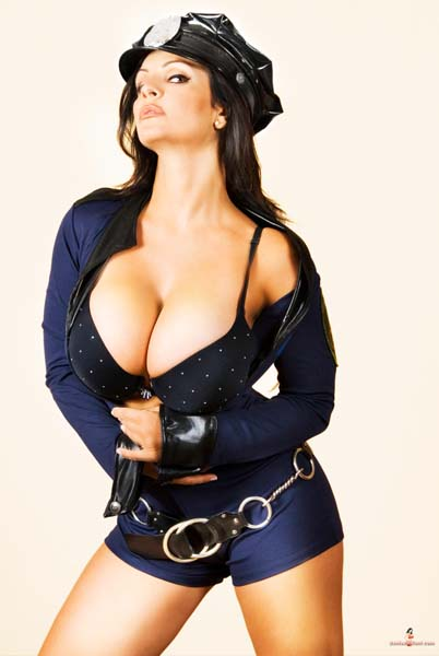 Denise Milani is too hot to be a cop Don't you agree Want MORE