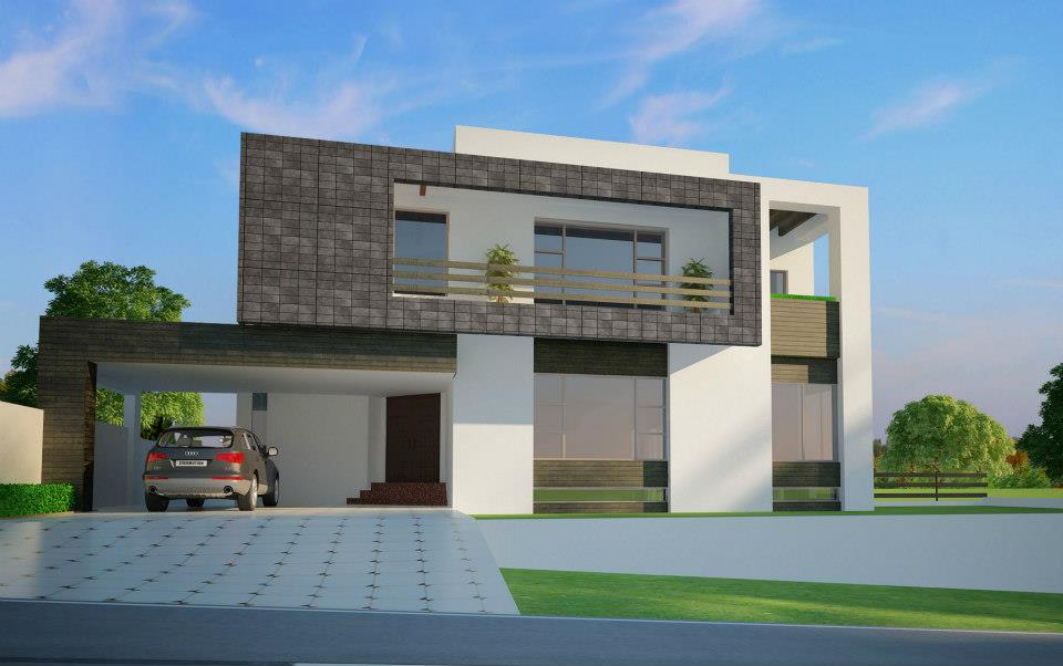 Corner Plot @ Beautiful Modern House Design in Rawalpindi, Pakistan