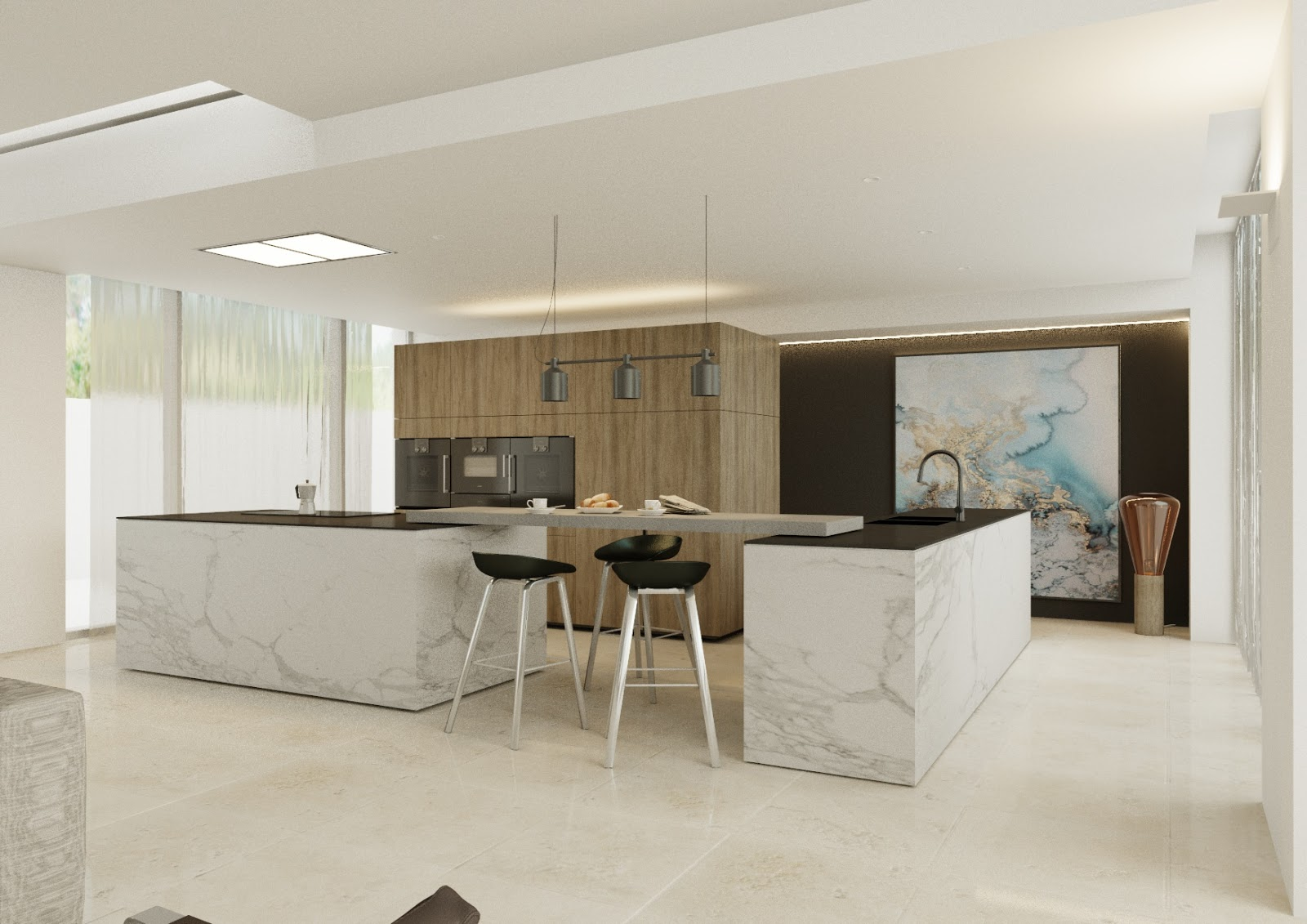 Minosa modern kitchen design requires contemporary approach for Salle manger cuisine