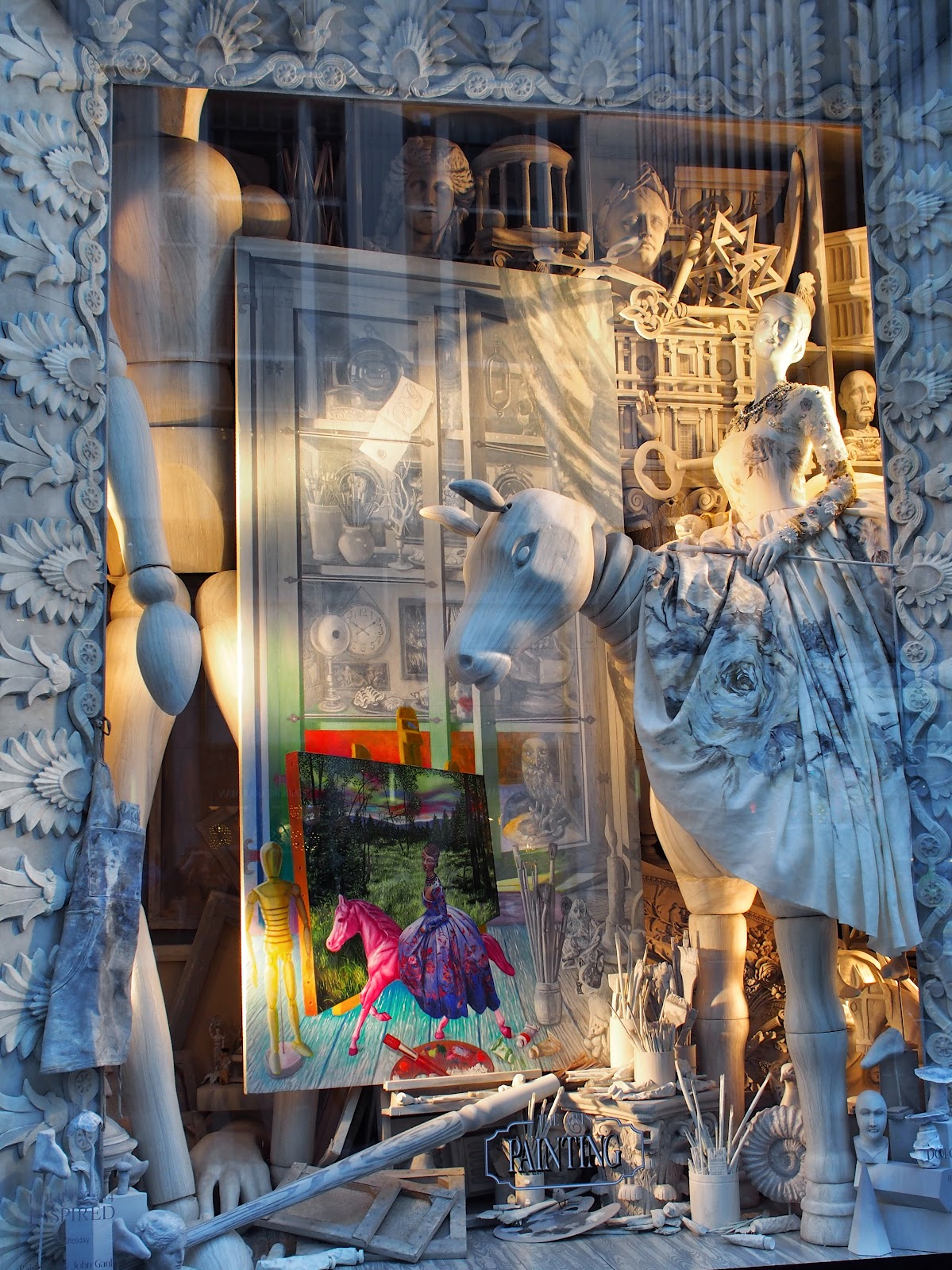 Holding A Pose #HoldingAPose #bgwindows #windowwatchers #holidaywindows #5thavenuewindows #NYC  #holidays #besttimeoftheyear #nyc ©2014 Nancy Lundebjerg