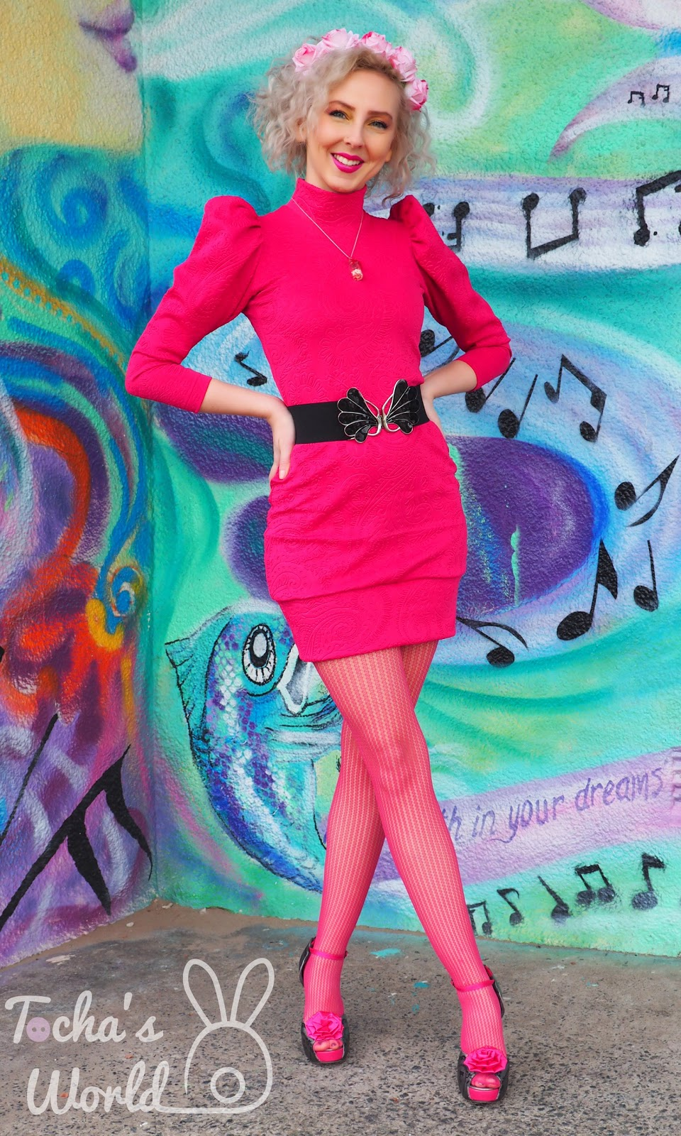 Abakhan, Ayr, bodycon, cerise, dress, embossed, fashion, Iron Fist, leg-o'mutton, pattern cutting, Psychedelic Furs, Victorian, scuba, vegan,