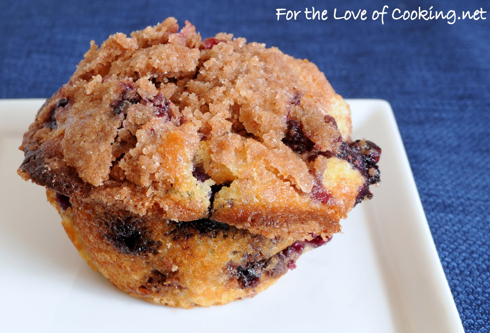 Blueberry Coffee Cake Muffins | For the Love of Cooking
