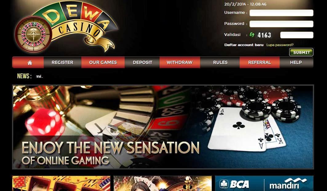 Daftar Casino Online Uang Asli DewaCasino