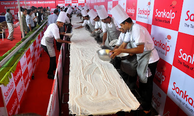 Ahmedabad, Dosa, Event, Food, India, Longest, Sankalp restaurant, Guinness World Record,