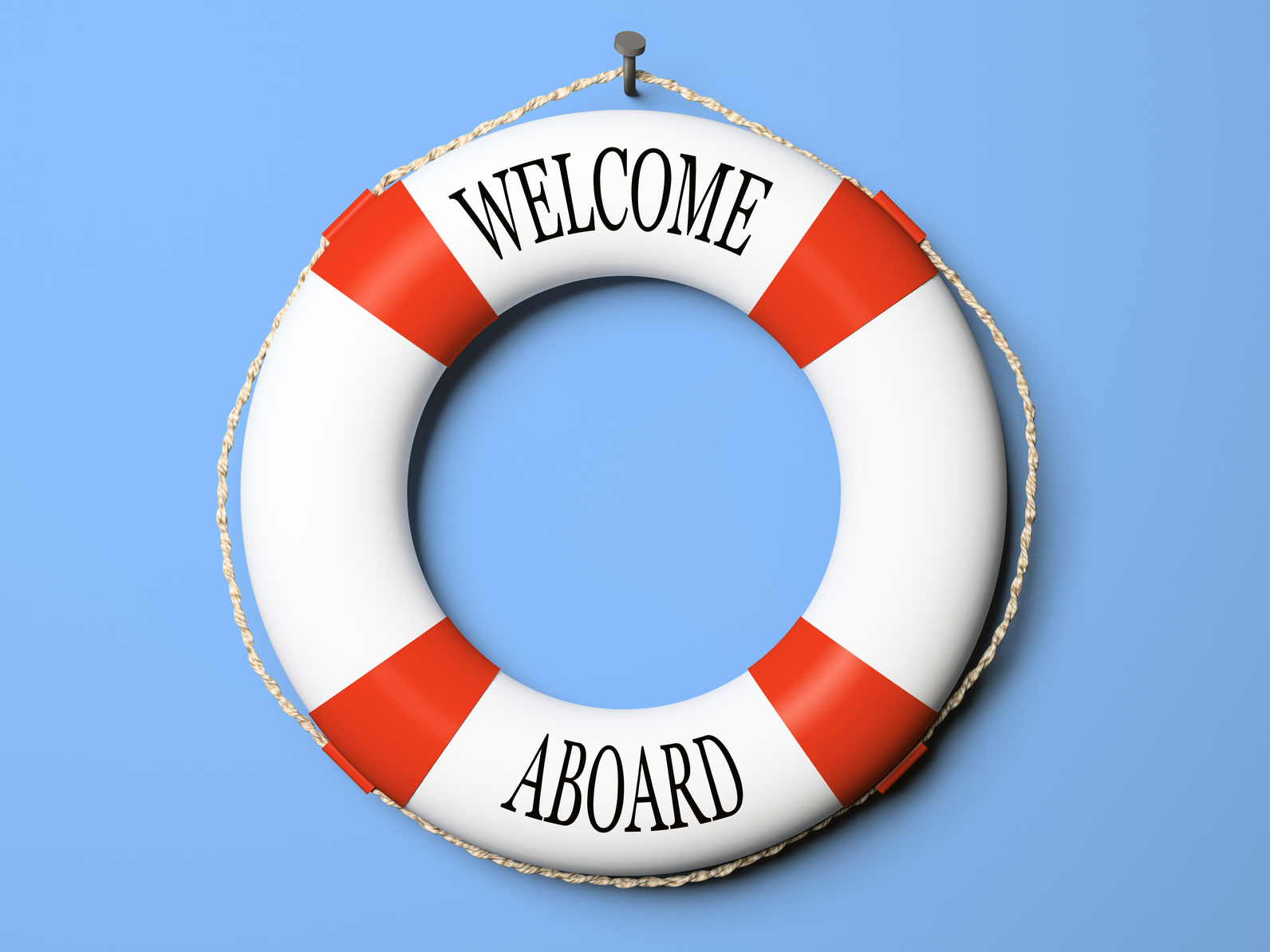 Welcome aboard boat ships life ring clock - Welcome Wednesday