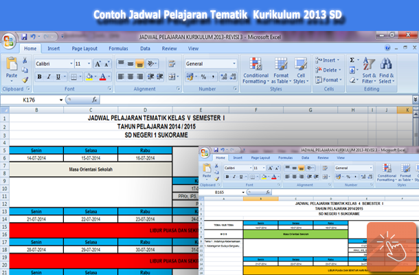 Contoh Jadwal Pelajaran Tematik Kurikulum 2013 SD
