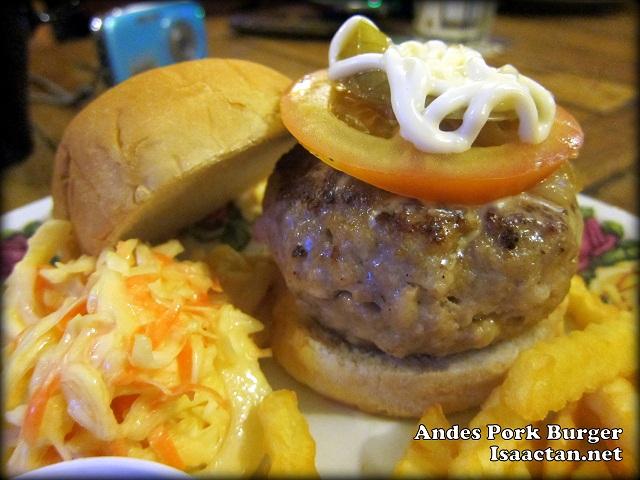 Andes BYO Aman Suria Pork Burger