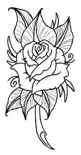 rose tattoos drawing