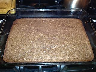 homemade brownies in a pan