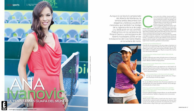 Ana Ivanovic in CARAS Magazine