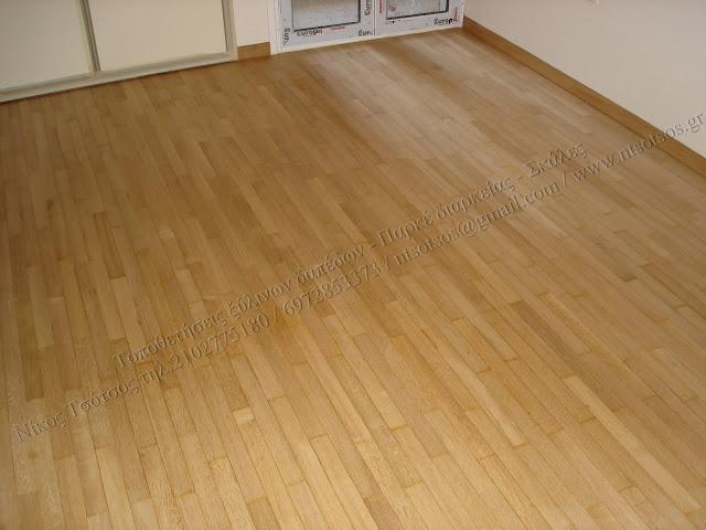 Τρίψιμο και γυάλισμα σε ξύλινα πατώματα