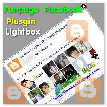 Hiện thị Fanpage của Facebook ra trước web/blog với lightbox