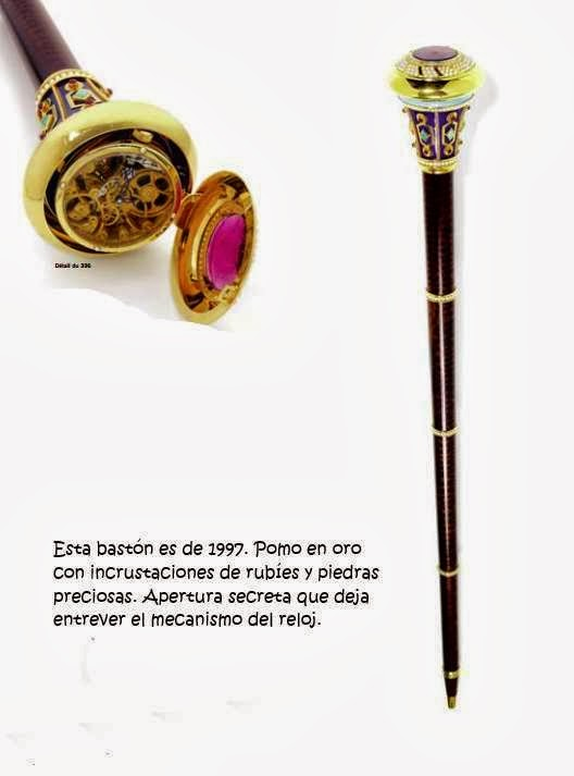 Este bastón joya sólo se fabrica bajo pedido. Su precio puede oscilar entre los 10.000 y 15.000 eruos.