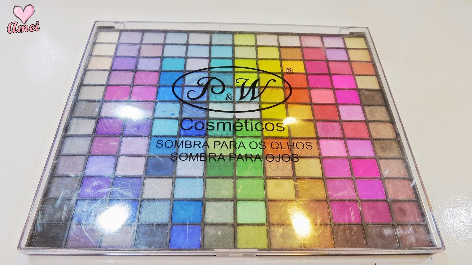 Resenha Paleta De Sombras P&W MK1440 (144 Cores)