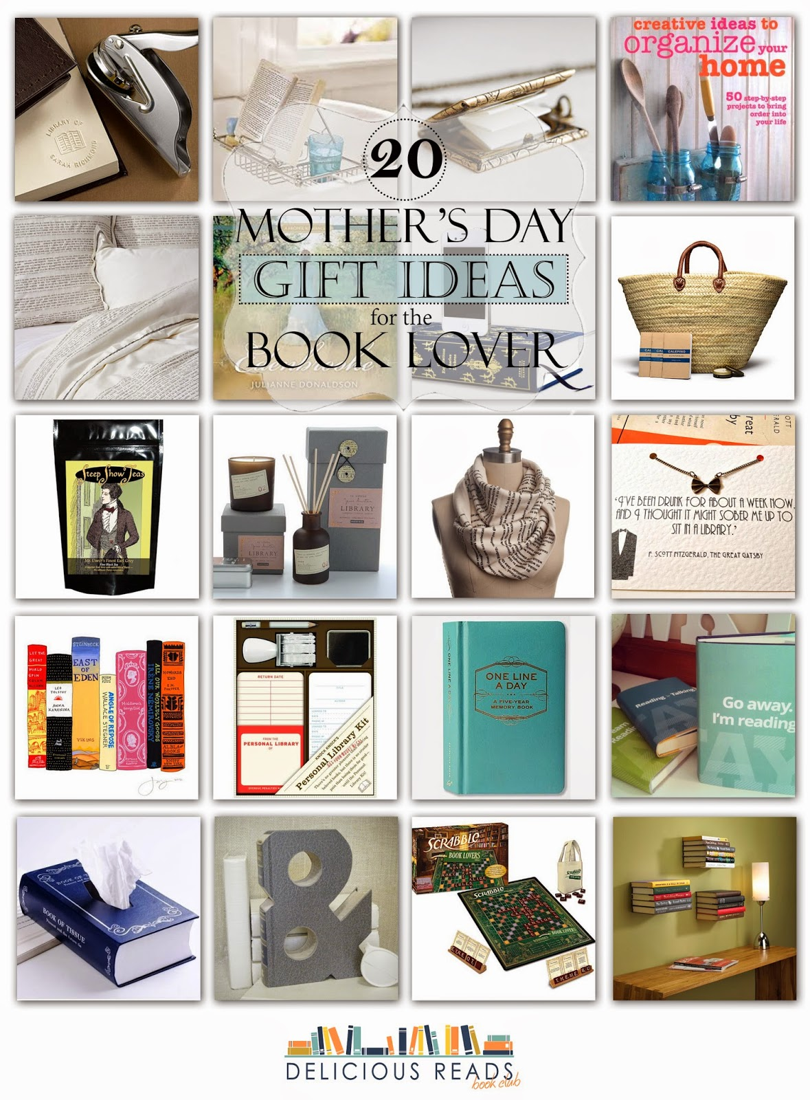 delicious reads: 20 mother's day gift ideas for the book lover