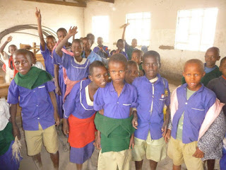 Students at Eluwai Primary School, Tanzania