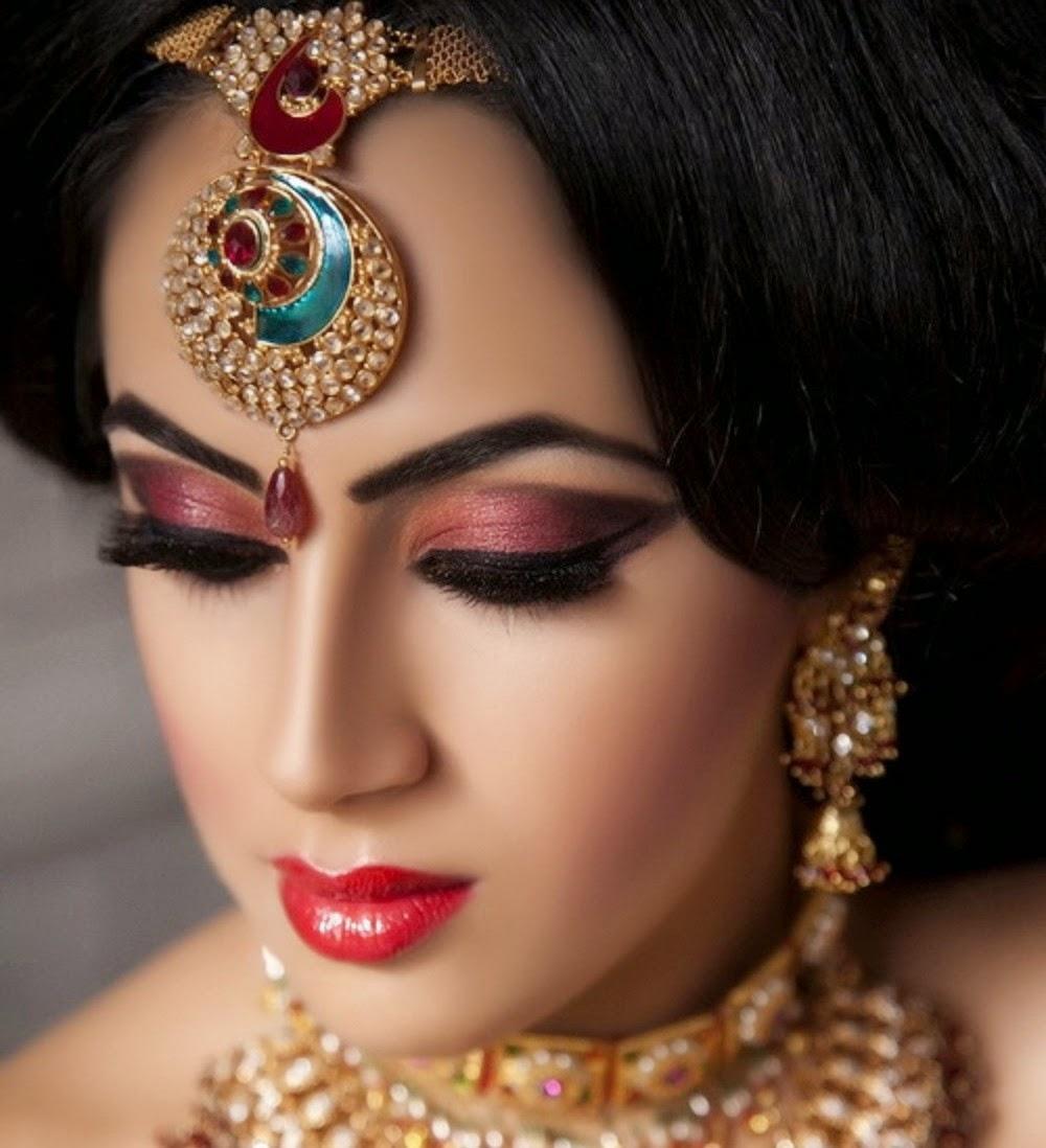 New Wedding Makeup : Most Beautiful And New Look Bridal Wedding Makeup 2014 ...