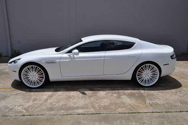 Aston martin rapide matte white celebrity auto group Celebrity motors