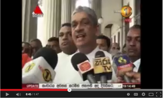 Sarath Fonseka parliment speech