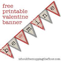 Free Valentine Printable Banner