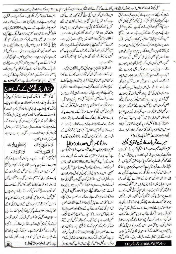 Ubqari Wazaif for Jobs