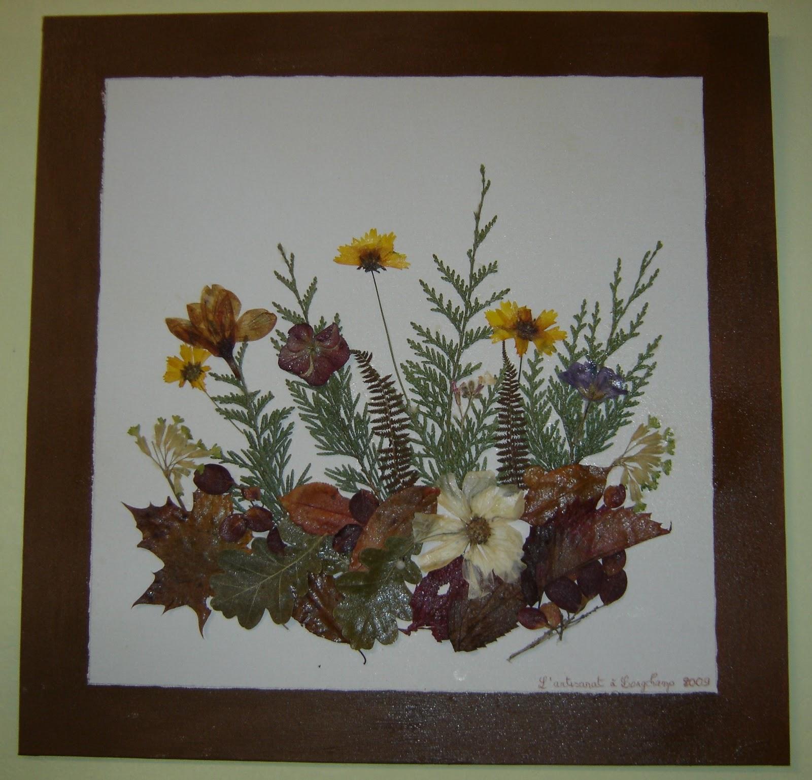 longchamp bricole tableaux en fleurs s ch es. Black Bedroom Furniture Sets. Home Design Ideas
