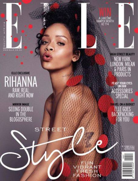 Rihanna bares it all for Elle South Africa July 2015