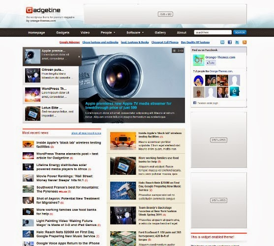 Gadgetine - WordPress Theme for Magazine