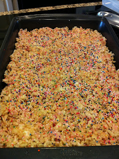 Cake Batter Rice Krispy Treats
