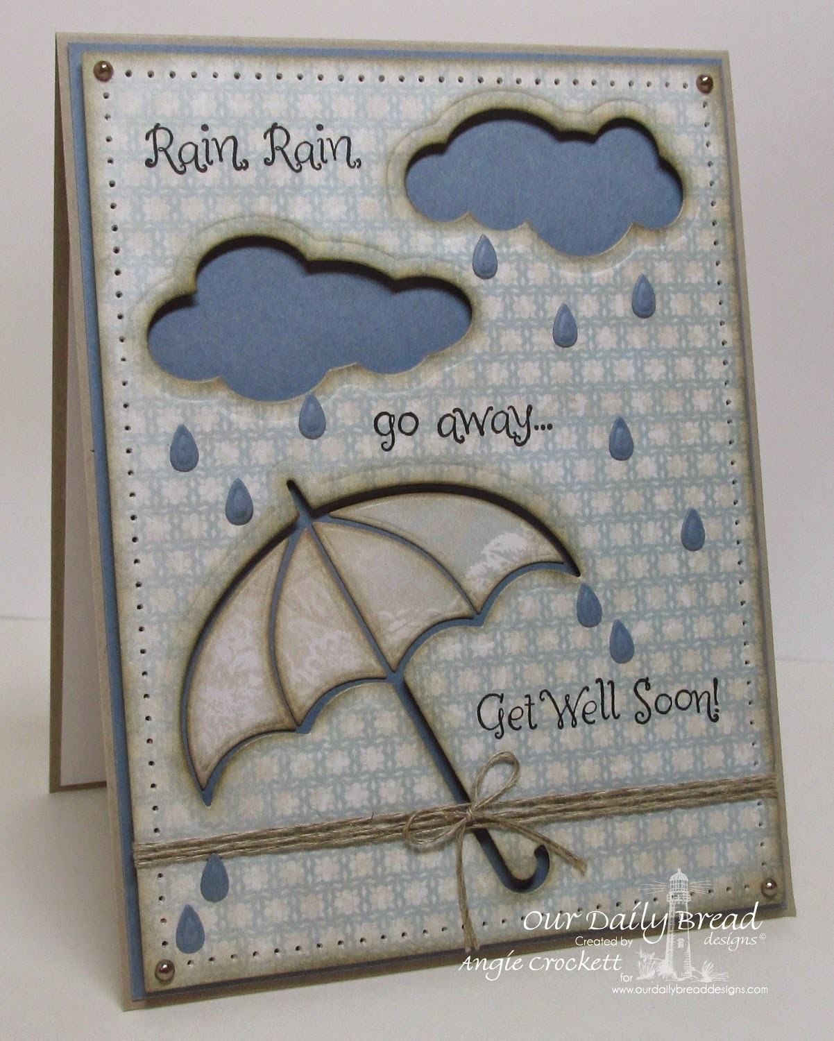 ODBD Shabby Rose Paper Collection, ODBD Shower of Blessings, ODBD Custom Umbrellas Dies, ODBD Custom Clouds and Raindrops Dies, Card Designer Angie Crockett