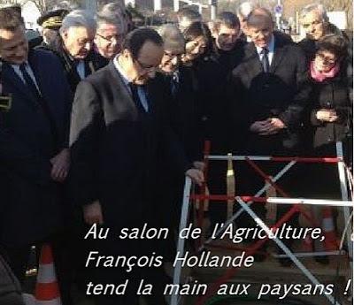 François Hollande  au salon de l agriculture