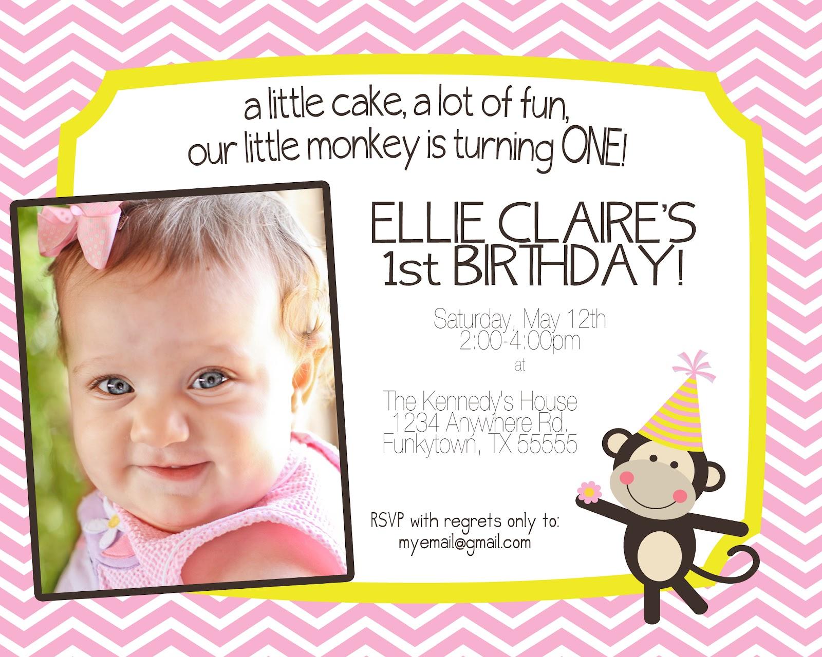 KGW Studio: Ellie Claire\'s 1st Birthday {Invitation}