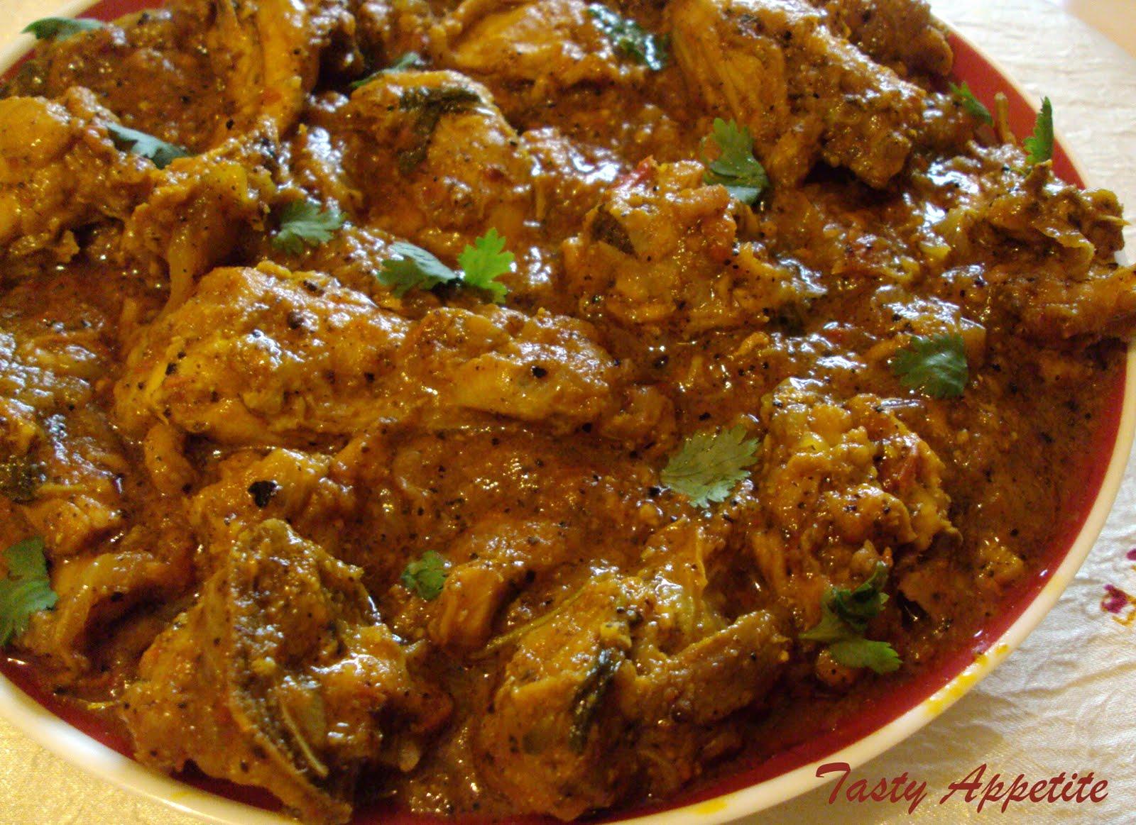 Pepper Chicken Masala / Spicy Chicken Masala Curry