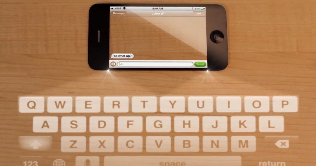 iphone projection keyboard