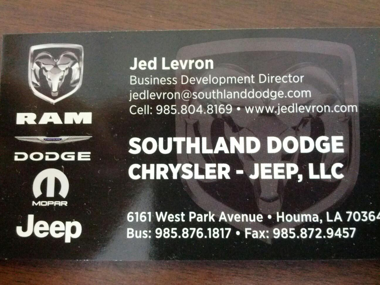 Houma sports april 2013 looking for a new or used vehicle check out southlanddodge and ask for me jed levron reheart Gallery