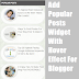 Add Popular Posts Widget with Hover Effect for Blogger