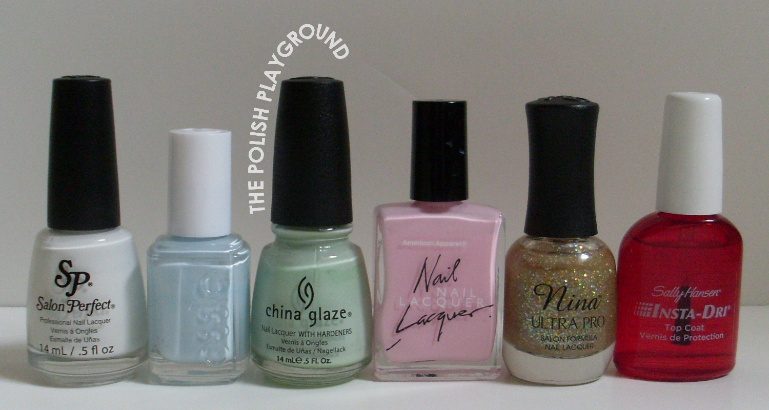 Salon Perfect, Essie, China Glaze, American Apparel, Nina Ultra Pro, Sally Hansen