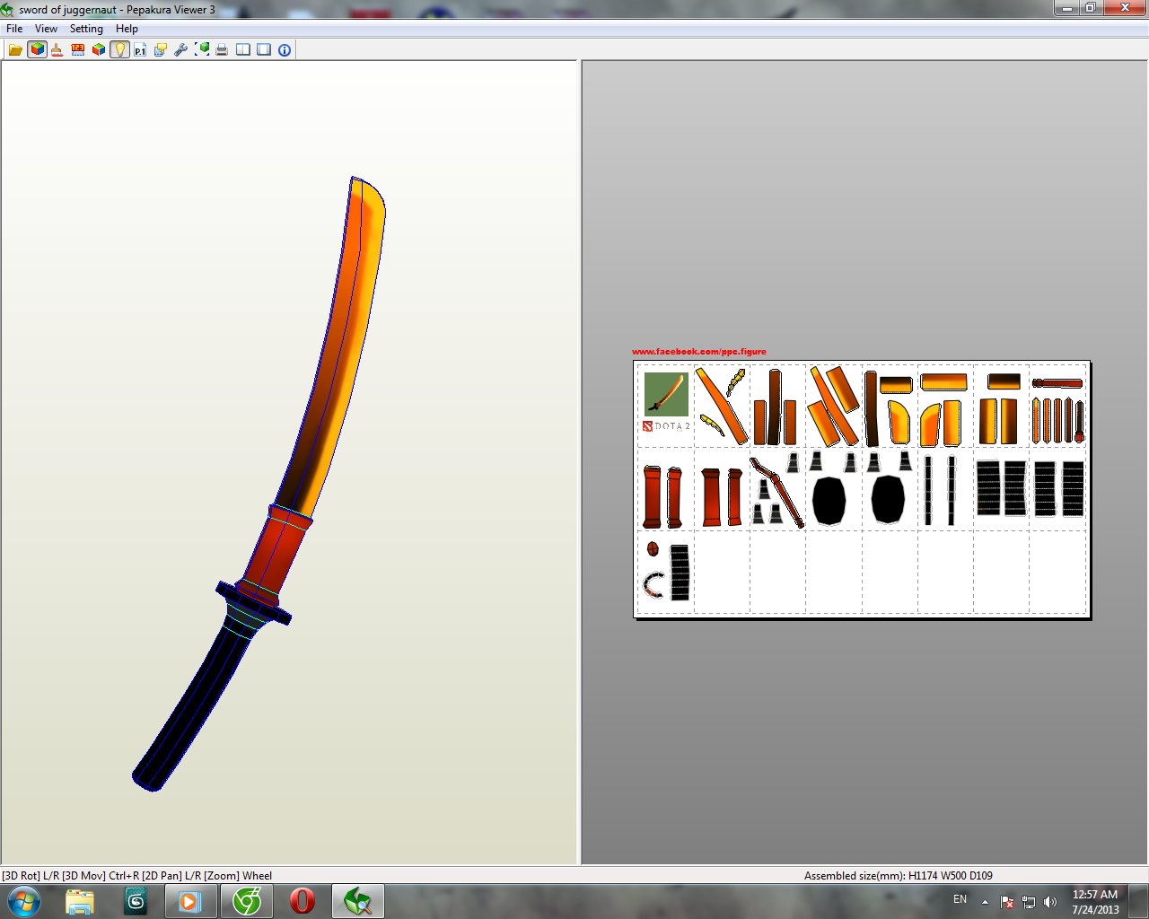 Dota 2 Sword Of Juggernaut Dota 2 Papercraft
