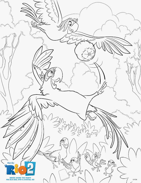 Blu From Rio Coloring Pages
