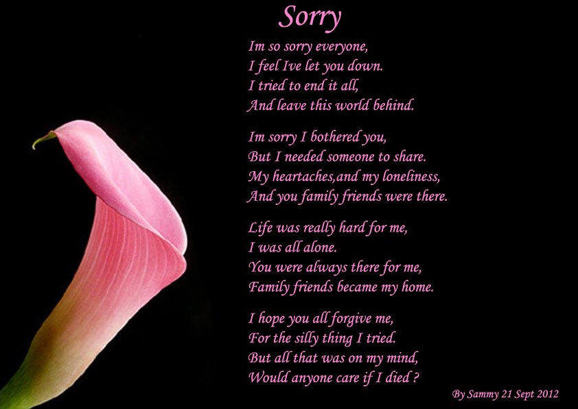 Free Wallpaper Dekstop: A sorry poem, sorry poems, im ...