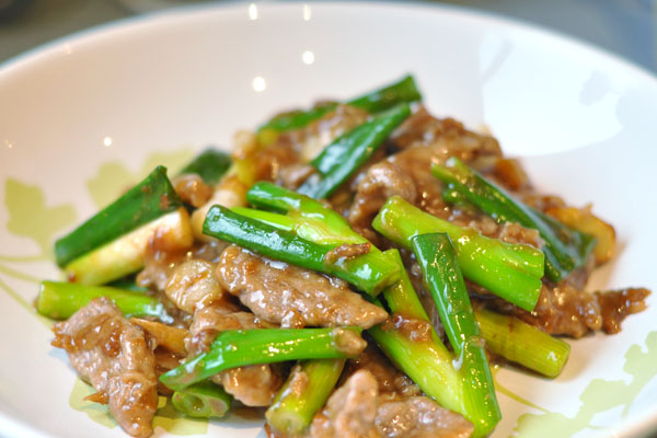 beef spring onion ginger oyster sauce