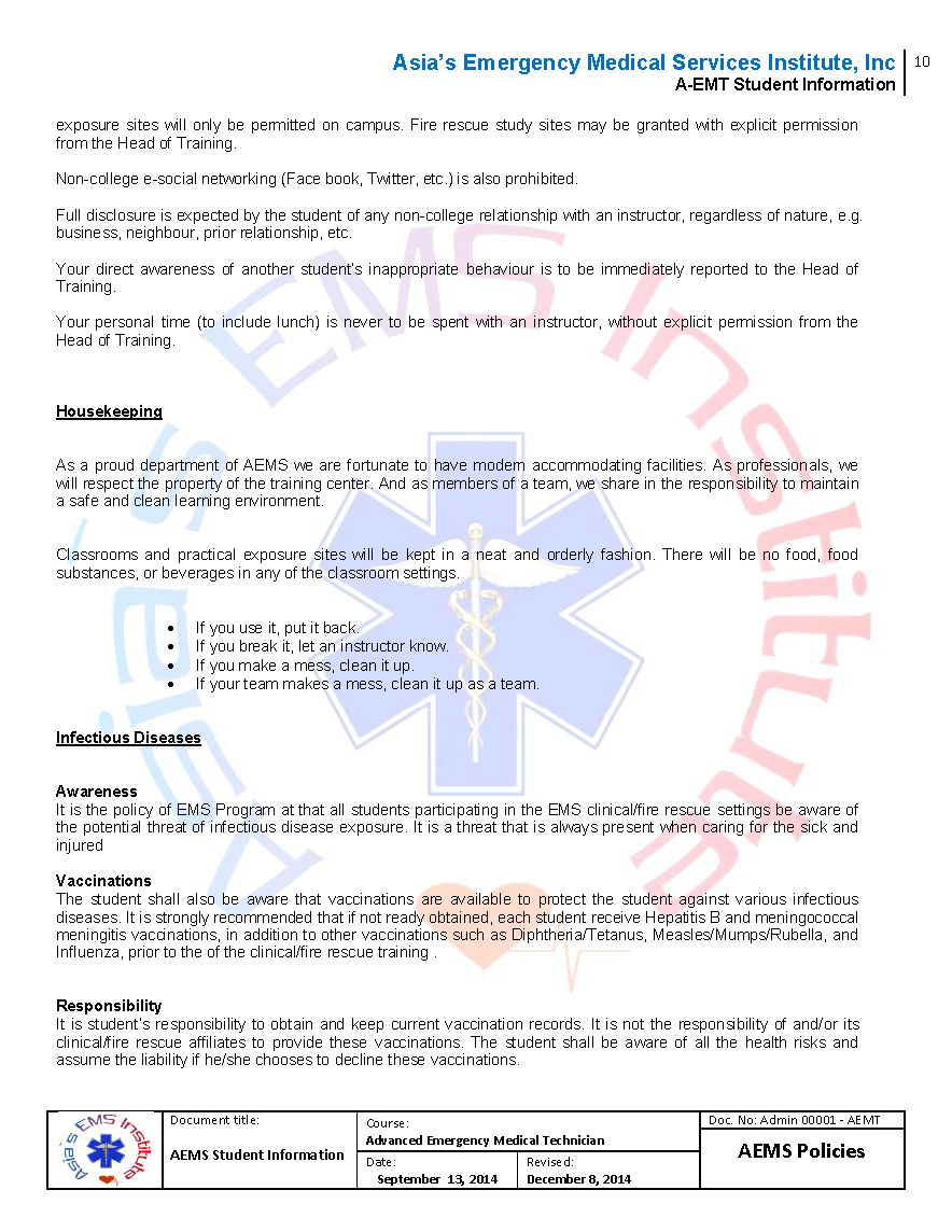 the role of an emergency medical technician emt in the management of spinal injury Ems educational institution emergency medical technician practical examination (emergency medical responder and emergency medical technician.