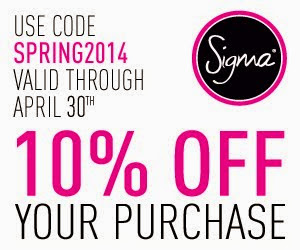 Sigma Beauty Brushes Promo code