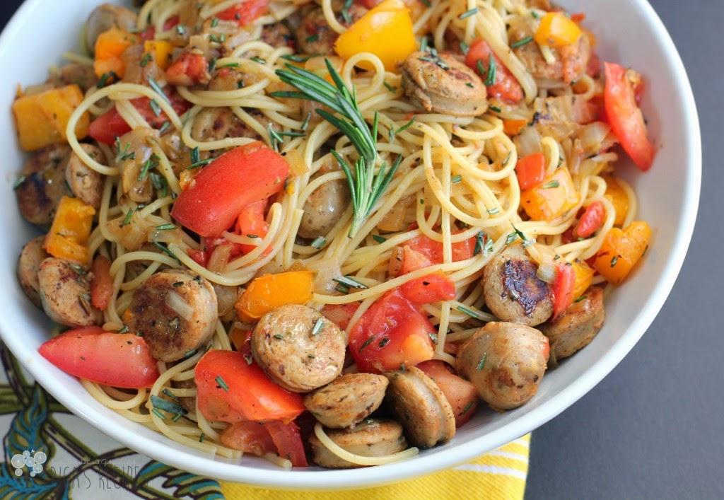 Chickent Sausage & Rosemary Spaghetti