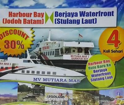 Mv Mutiara Mas Harbour Bay Batam - Stulang Laut Johor Bahru