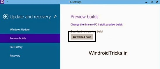Download Windows 10 Technical Preview Build 9860
