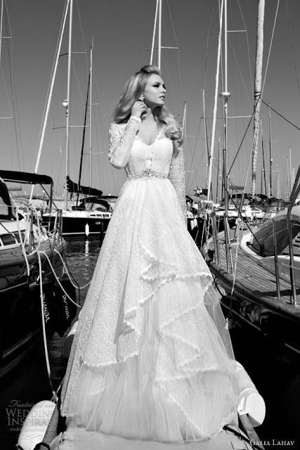 Galia Lahav lace sleeves wedding  dress 2013 2014